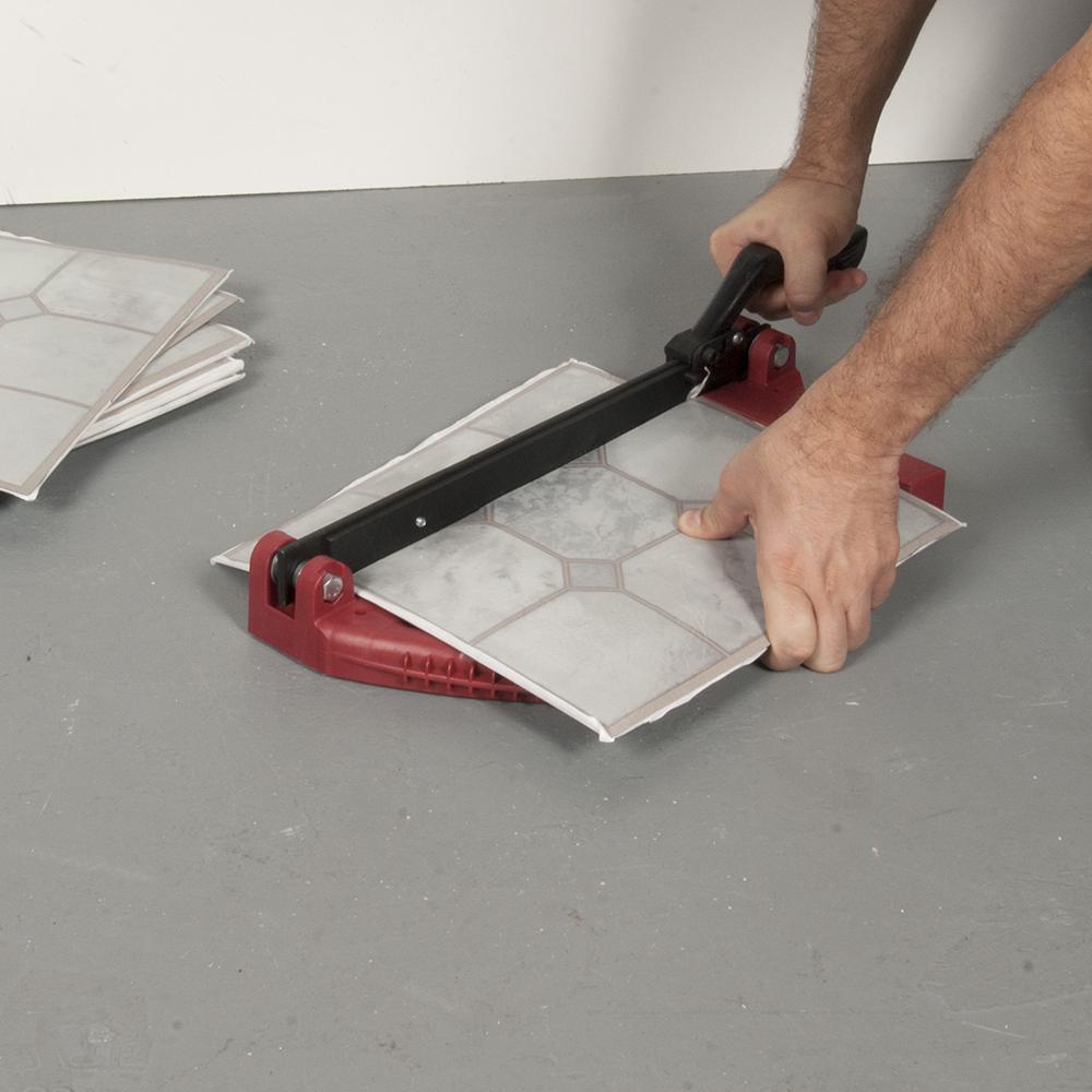 Vinyl floor tile cutter
