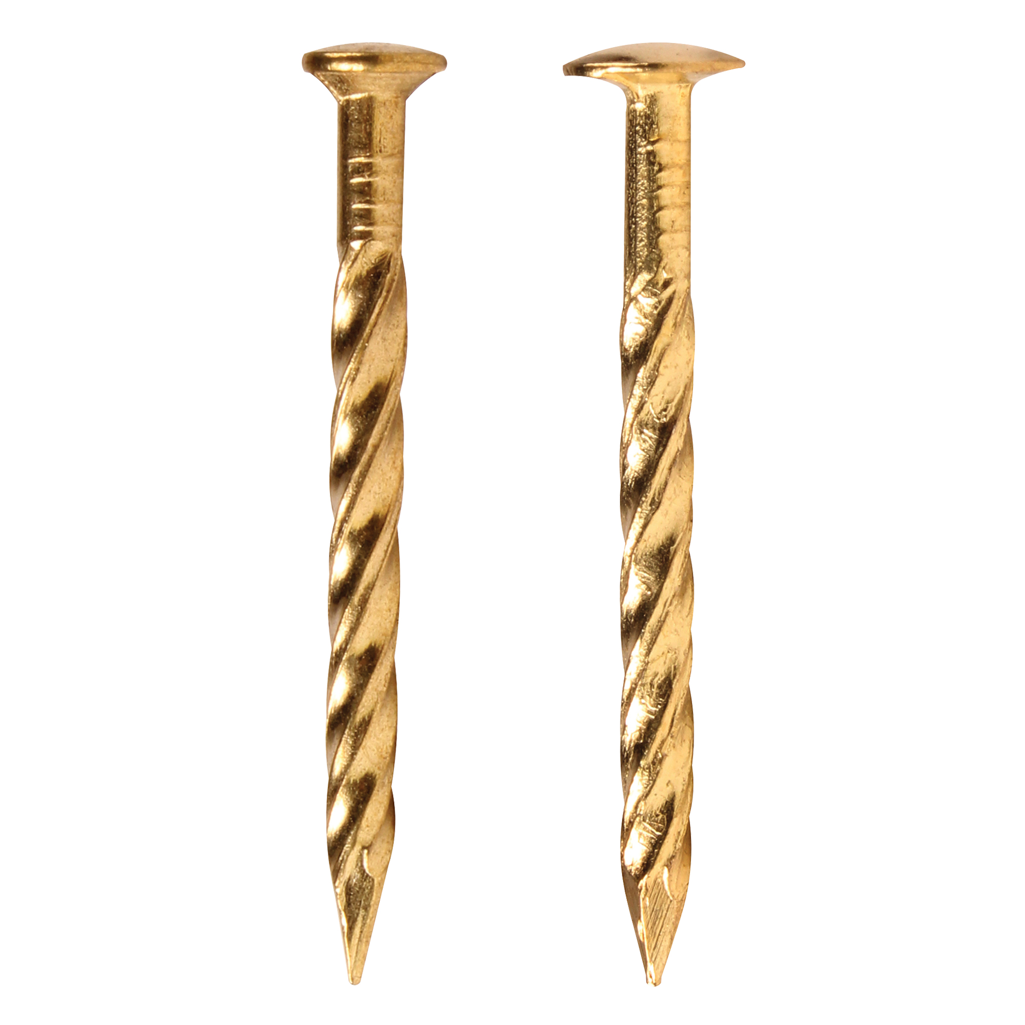13 Gauge Drive Screw Nails Brass