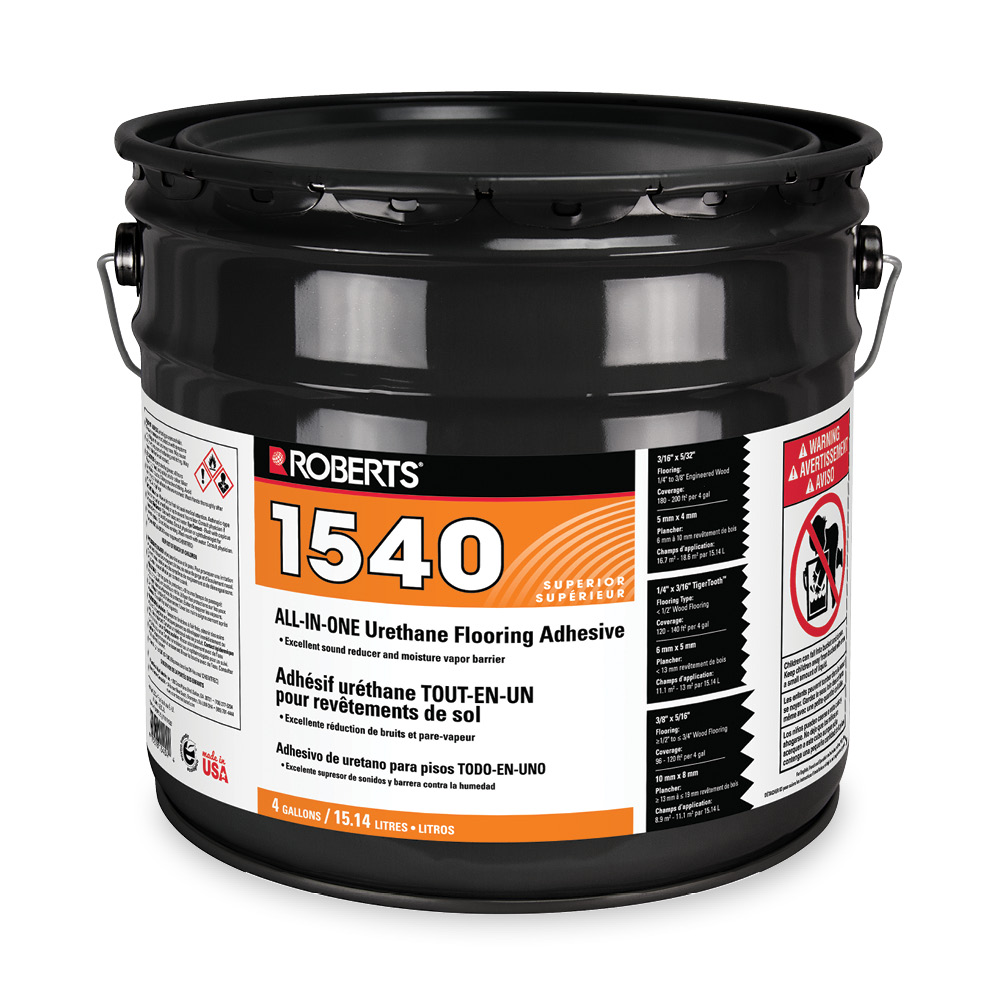 all in one urethane flooring adhesive roberts consolidated. Black Bedroom Furniture Sets. Home Design Ideas