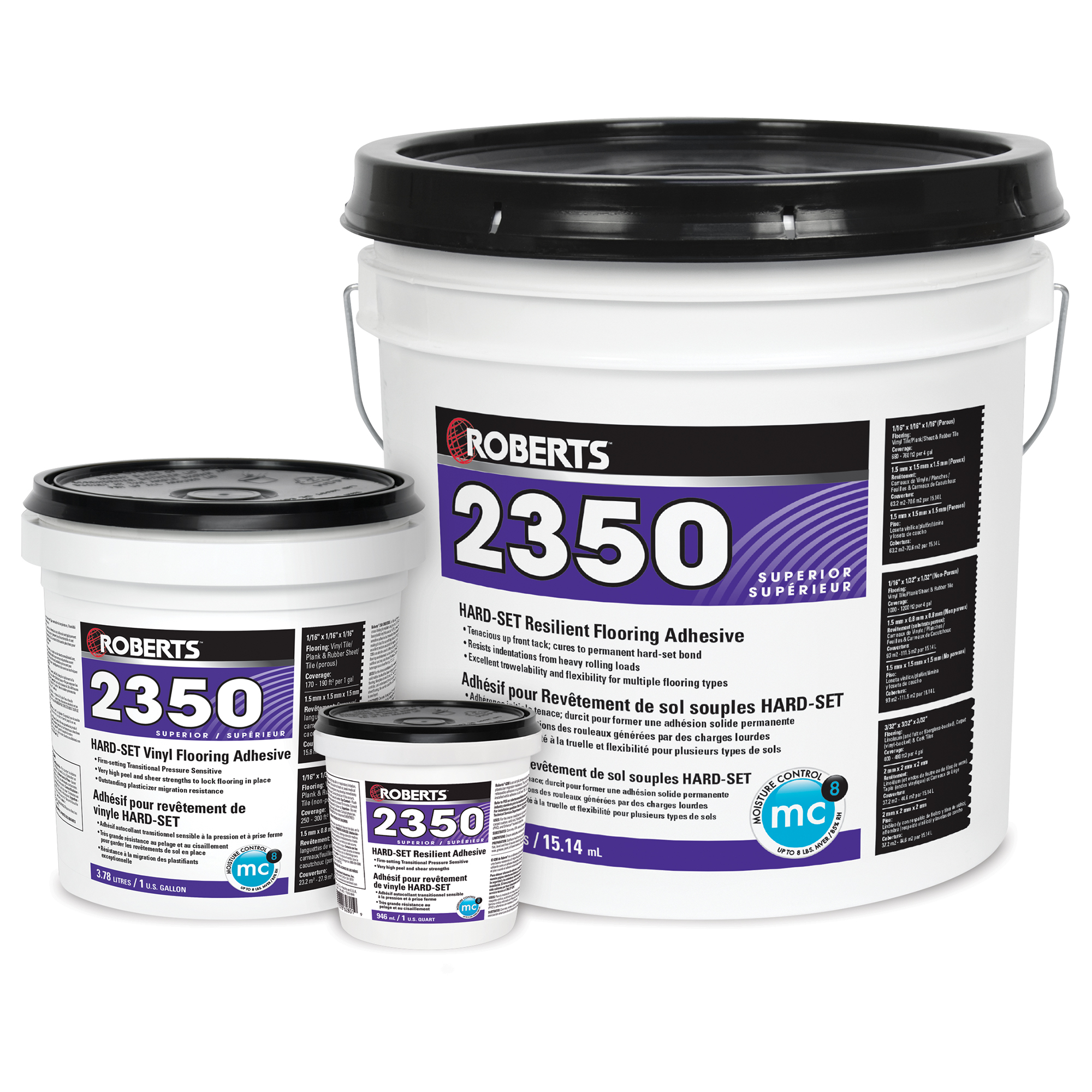 HARD-SET Resilient Flooring Adhesive