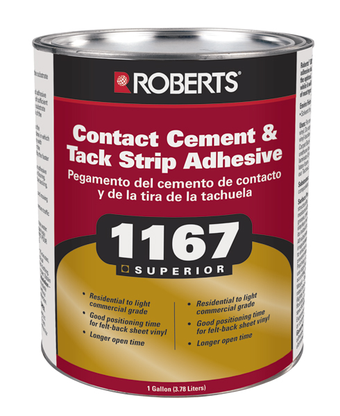 1167 Superior Contact Cement Tack Strip Adhesive